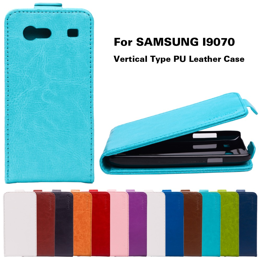 Luxury PU Leather Vertical Flip Cases For Samsung Galaxy S Advance i9070 GT-I9070 i9070 9070 Covers Fashion Magnetic Black Shell