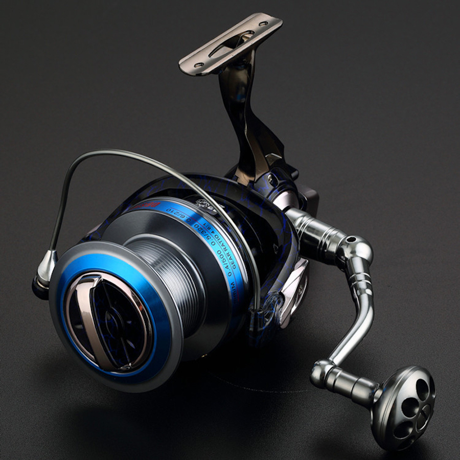 цена на NEW Super Large DBS8000 10000 13BB Fishing reel 4.6:1 Distant Wheel Metal Foot Strength spinning reel Saltwater For Sea fishing