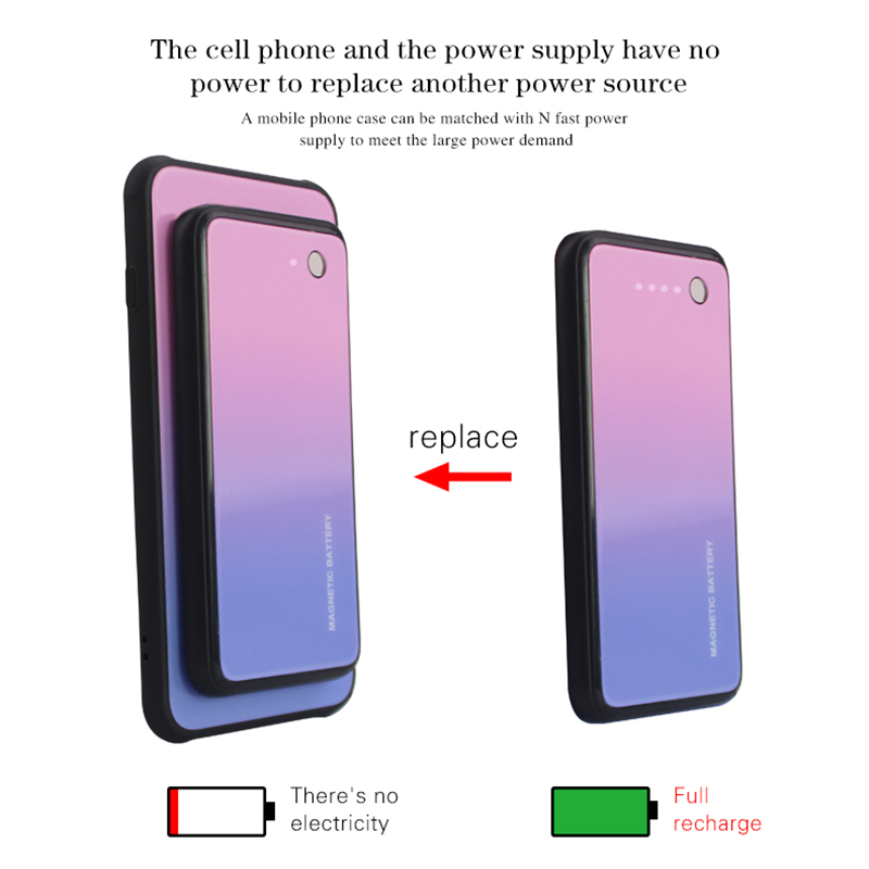 Image 4 - NTSPACE 5000mAh Wireless Magnetic Battery Charging Case For Samsung Galaxy S7 Edge S8 Plus Power Case Portable Power Bank Case-in Battery Charger Cases from Cellphones & Telecommunications