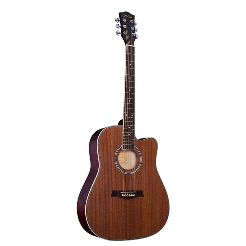 Diduo 41'' Basswood Acoustic Guitar Cutaway Closed Knob Violao Wood Guitar Guitar Musical Instrument Acoustic Guitarra YH-235 diduo 40 inch 41 acoustic guitar beginner entry student male and female instrument wound guitarra