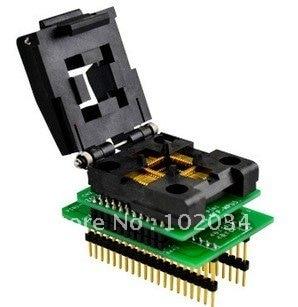 100% NEW IC51-0444-467 QFP44 IC Test Socket / Programmer Adapter / Burn-in Socket(CNV-QFP-MPU51)