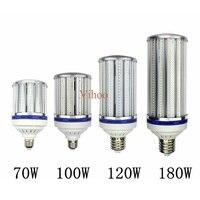 Высокий яркий 70 Вт 100 Вт 120 Вт 180 Вт E27 E40 E26 E39 светодио дный лампы уличного освещения света 110 V 220 V кукурузы лампа для склад инженер квадратных