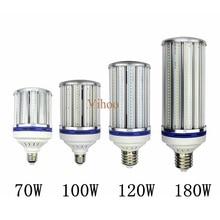 Высокая яркость 70 W 100 W 120 W 180 W E27 E40 E26 E39 Светодиодный лампа для уличного фонаря освещения 110 V 220 V кукурузы лампа для склада инженер квадратных