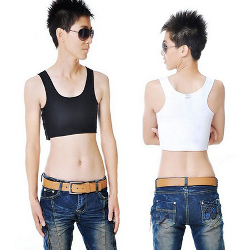 Casual Breathable Buckle Short Chest/Breast Binder Trans Lesbian Tomboy Corset Bra