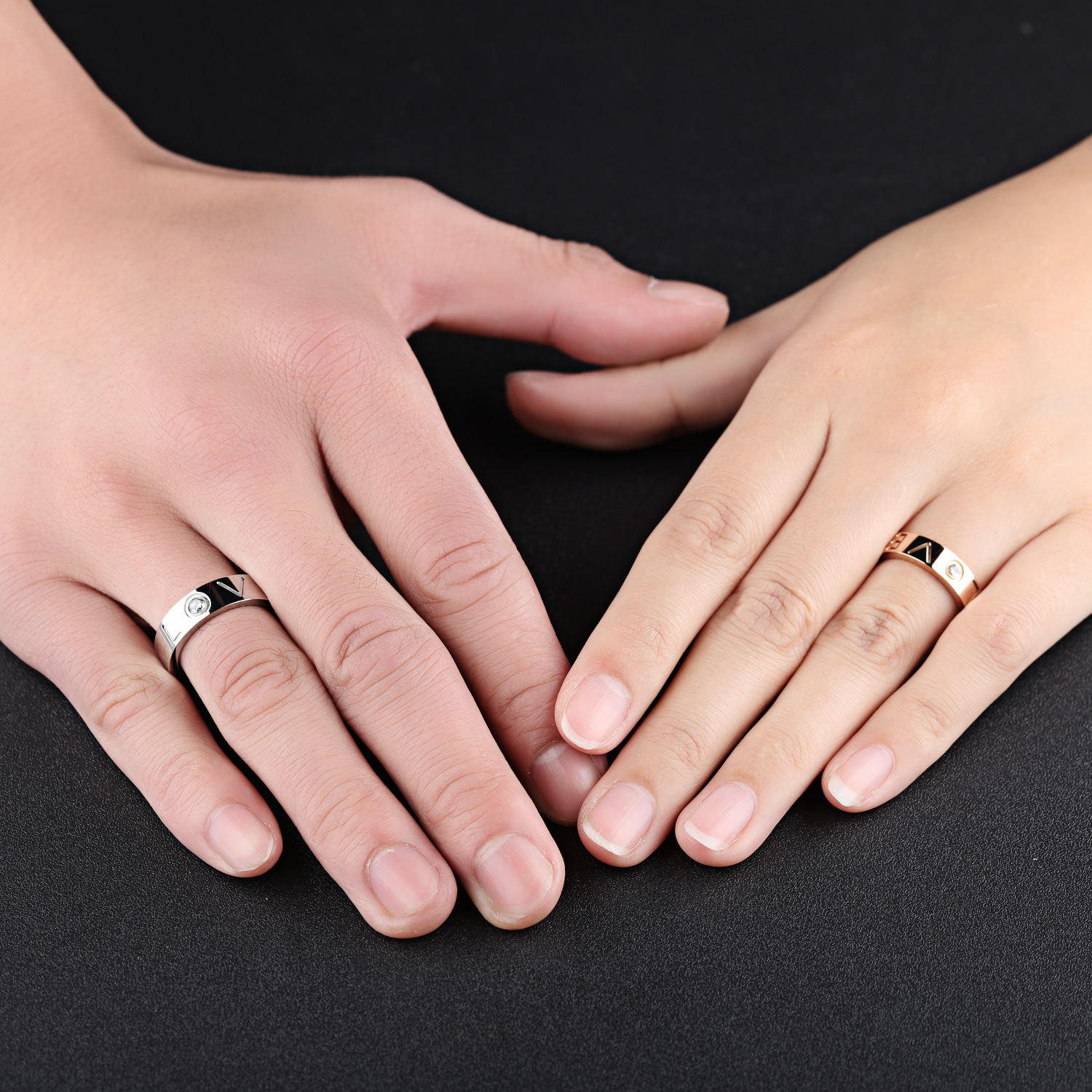 Aliexpress.com : Buy Wedding Couple Rings,couple Rings Forever Love ...