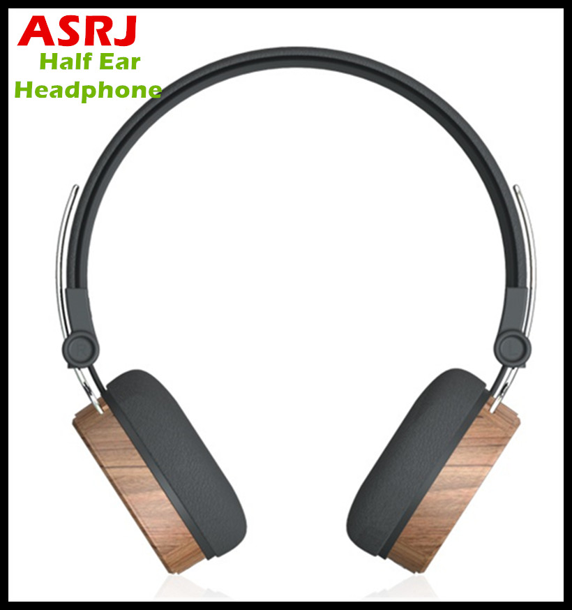 2017 New 3.5mm Stereo Wooden Headphone ASRJ W001 with Share Function Wood Headset For Sports Running Office Gaming Best Offer