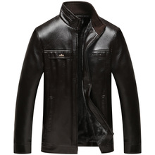 Hot Leather Jackets Men Thickening Warm Windbreak Men Coats Winter Warm Jacket Men's Fashion Luxury Leather Mens Fur Coat EDA124