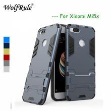 Купить с кэшбэком WolfRule Xiaomi Mi5x Cases Xiaomi Mi 5x Cover Soft Silicone + Plastic Kickstand Case For Xiaomi Mi5x Case Mi 5X Phone Funda 5.5