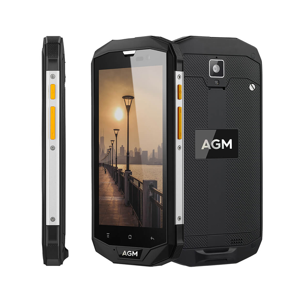 "Image 4 - OFFICIAL AGM A8 5""4G+64G FDD LTE Android 7.1 Mobile Phone 2SIM IP68 Rugged Phone Quad Core 13.0MP 4050mAh NEW NFC OTG Smartphone-in Cellphones from Cellphones & Telecommunications"