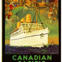 Cartel de publicidad Vintage, cuadros clásicos de lienzo canadiense del Pacífico, pósteres de pared Vintage, pegatinas para decoración del hogar, regalo