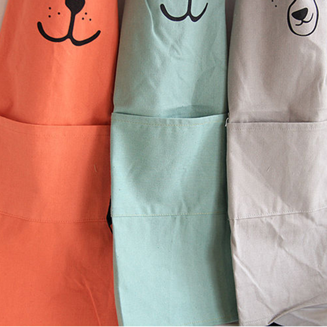 Home Decor Active Components Creative Parent Child Cute Pattern Working Apron Zakka Kitchen Cooking Baking Painting Apron With Pocket
