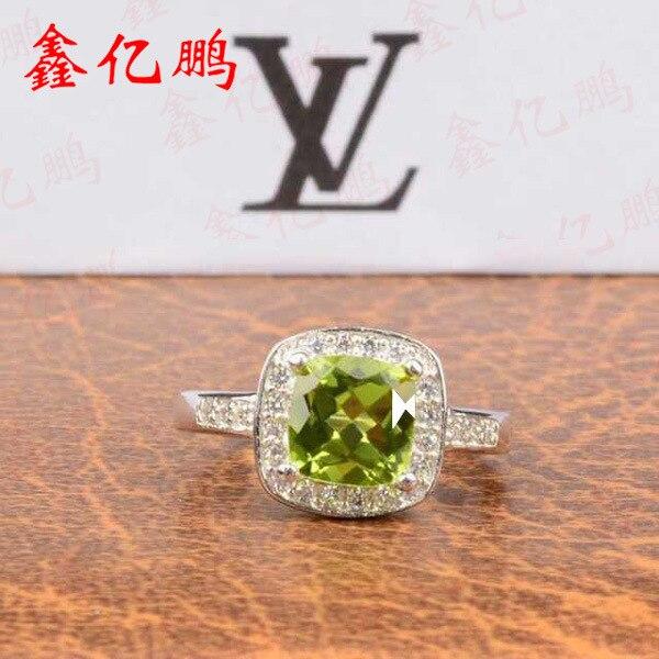 925 sterling silver con oliva naturale anello di pietra925 sterling silver con oliva naturale anello di pietra