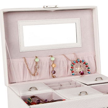 White Large Jewelry Box Girls Storage Travel Case Display Organizer Packaging Rings Earring Necklace Snake