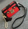 2016 lady bag genuine leather women handbag fashion case bag cowhide water ripple messenger bag