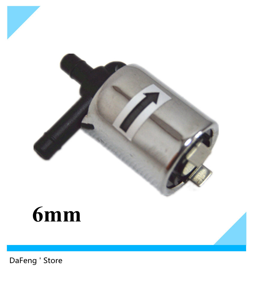 Hot sale 12VDC Plastic electromagnetic valve,solenoid valve,Diameter 6 mm,Metal shell free shipping free shipping 170f solenoid sell solenoid valve electromagnetic valve magnetic valve suit kipor kama and chinese brand