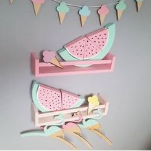 2018 New Wooden Watermelon Nordic style Baby Room Decor Scandiniavian Decor For Girl Room Nice Decor For Baby Room Wall