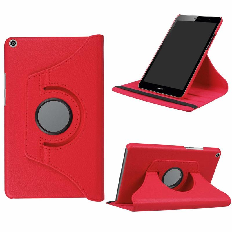 360 Rotating PU Leather Case Cover For Huawei Mediapad T3 8.0 KOB-L09 KOB-W09 Tablet Case For Huawei T3 8 Honor Play Pad 2 8.0