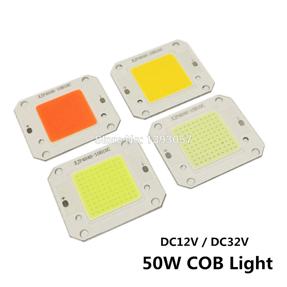 DC12V 32V 50W LED COB Integrated Smart IC Driver High Power 12V COB LED Cold White Warm White Full Spectrum цена