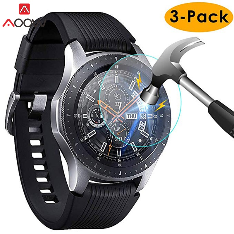 3pcs For Samsung Galaxy Watch 42mm 46mm Tempered Glass Screen Protector Protective Film Guard Anti Explosion Anti-shatter