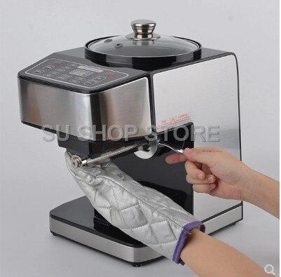 Machine de presse à huile d'acier inoxydable presseur d'huile automatique électrique extracteur d'huile de graine dispositif de pressage d'huile froide chaude 220 V - 2