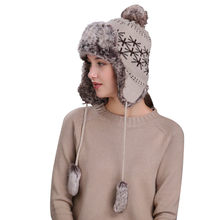 07ce119fa23 desire 35  New Creative Explosion Fashion Hot Sale Warm Women Winter Hat  with Ear Flaps Snow Ski Thick Knit Wool Beanie Cap Hat