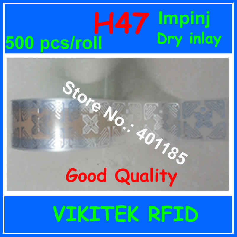 3D UHF RFID dry inlay Impinj H47 500pcs 860-960MHZ Monza4 915M EPC C1G2 ISO18000-6C can used to RFID tag and label car certificate uhf rfid tag customizable adhesive 860 960mhz monza4 epc c1g2 iso18000 6c can be used to rfid tag and labe