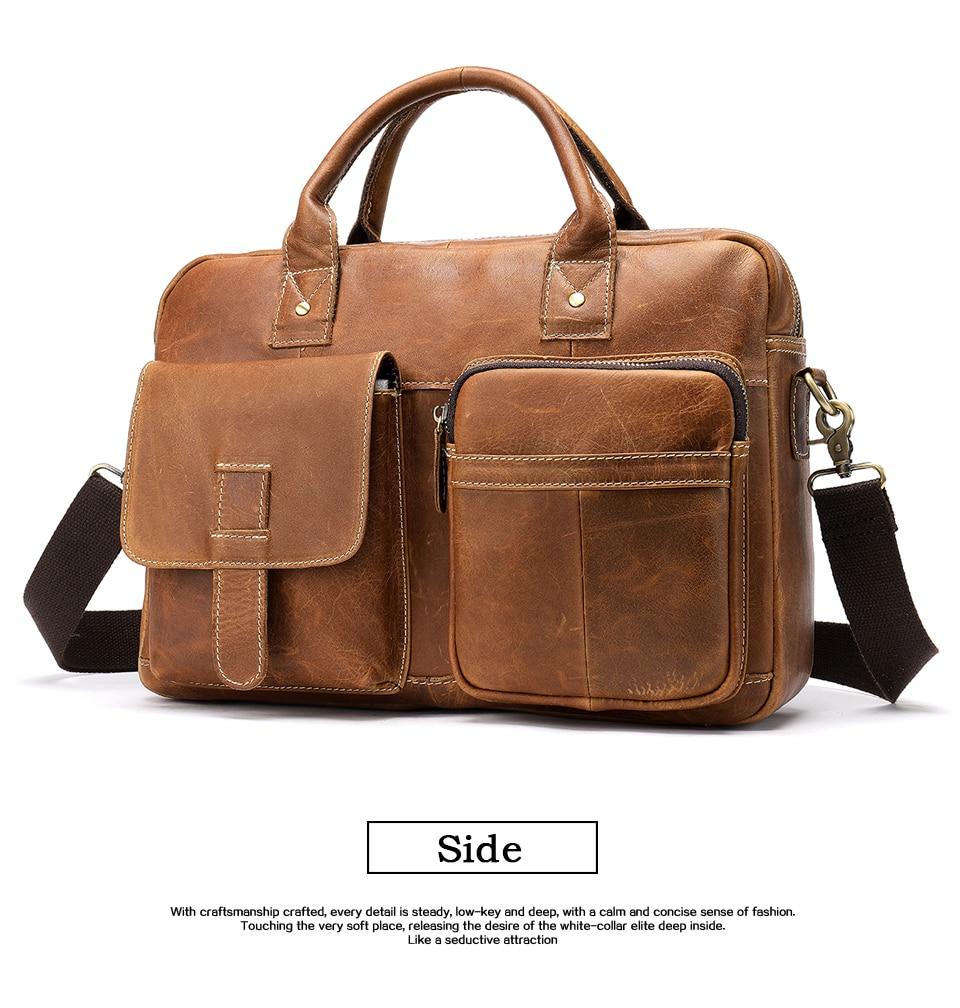 HTB1w6GkzVYqK1RjSZLeq6zXppXa0 WESTAL men's briefcase bag men's genuine Leather laptop bag office bags for men business porte document briefcase handbag 8503