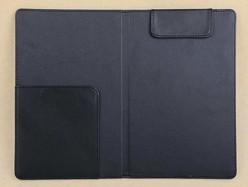 Large Size PU Leather Restaurant Bill Holder, Waiter Wallet, Magnetic Clip Check Book Cashier Folder