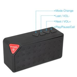 Image 3 - ミニ Bluetooth スピーカー X3 サポート TF USB FM ラジオ再生ワイヤレスポータブル音楽サウンドボックスサブウーファースピーカーとマイク