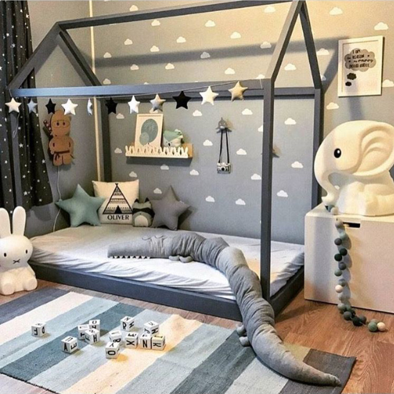 Us 0 71 10 Off Cloud Baby Room Wall Sticker For Kids Boy Decor Bedroom Nursery Stickers Home In