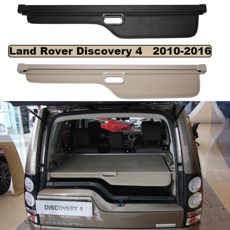 Car Trunk Security Shield Cargo Cover For Land Rover Discovery 4 LR4 2010-2016 High Quality SHELF KEEP OUT SCREEN RETRACTABLE все цены