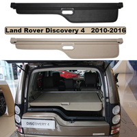 Car Trunk Security Shield Cargo Cover For Land Rover Discovery 4 LR4 2010 2016 High Quality SHELF KEEP OUT SCREEN RETRACTABLE