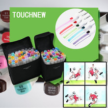 TOUCHNEW Art Marker Set Double Tips Animation Manga Design School Drawing Sketch Marker Pen 10/30/36/40/60/72/80 Colors
