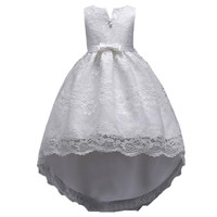 SexeMara 2 13Y Teenager White Lace Flower Girl Dresses Princess Pageant Wedding Bridesmaid Birthday Party Dress