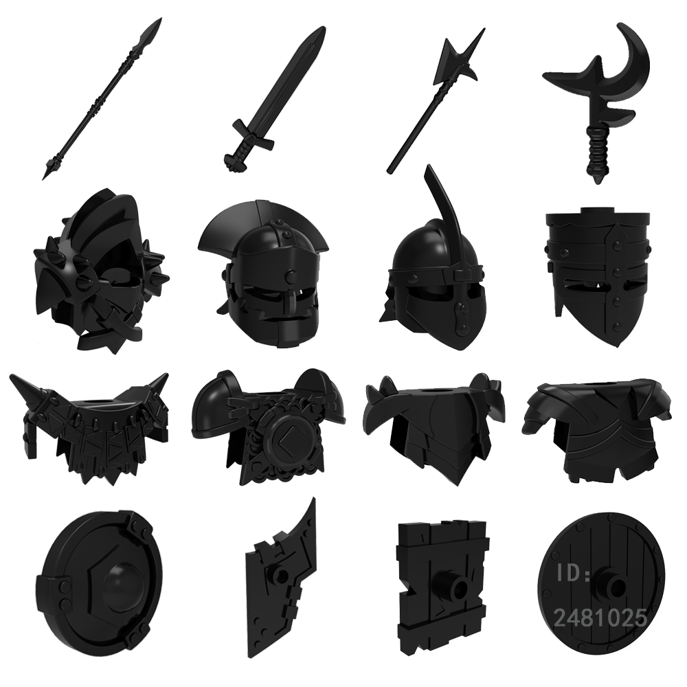 Knights Rome Handprint Weapon Helmet Armor Shield Accessories Building Blocks Bricks Medieval Compatiable with Pogo samuel rush meyrick full color knights and armor cd rom