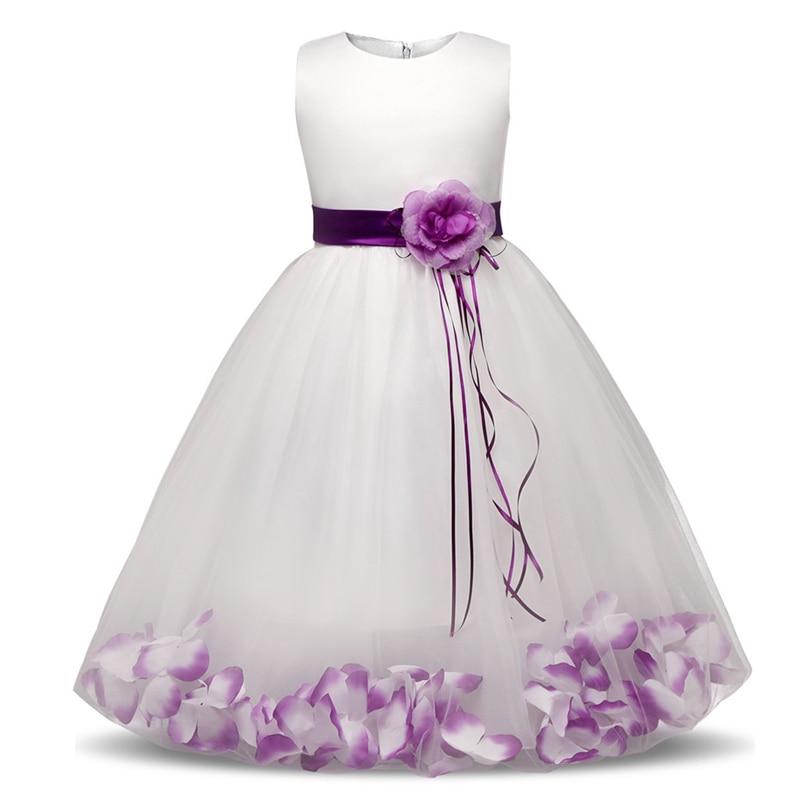 2018 New Kid Princess Dress Party for Wedding Bridesmaid Girls Dresses Summer Sleeveless Children Clothes Kids Clothing Vestidos