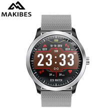 Makibes BR4 ECG PPG smart watch Men Bluetooth smart Bracele with electrocardiogram display holter blood pressure Fitness Tracker
