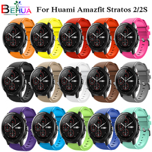 Smart Watch Accessories for Amazfit Stratos strap 22mm Band for Xiaomi Amazfit Pace 2S Replacement Band For Amazfit Stratos 2S 2 22mm stainless steel wristband for xiaomi huami amazfit stratos 2 2s magnetic watch band replacement for huami amazfit stratos