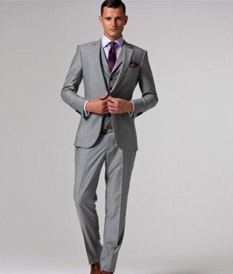 Online Shop Wholesale Custom Made 3 Piece Men Suits Fashion Light ...