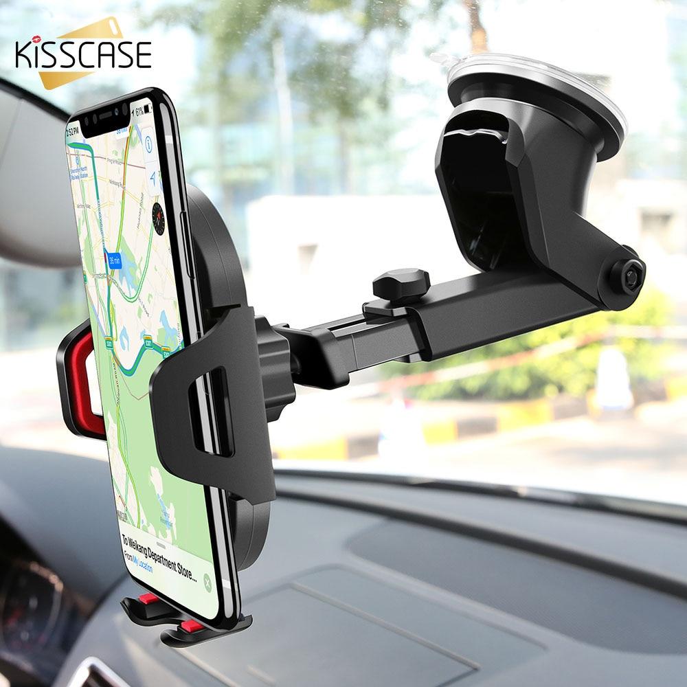 KISSCASE parabrisas de la gravedad tonto titular del teléfono del coche de ventilación de aire de coche para iPhone X XS X Max XR 7 8 soporte para teléfono en el coche
