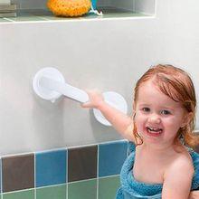 Easy to install Vacuum Sucker Suction Cup Handrail Bathroom Super Grip Safety Grab Bar Handle for Glass Door Bathroom Elder