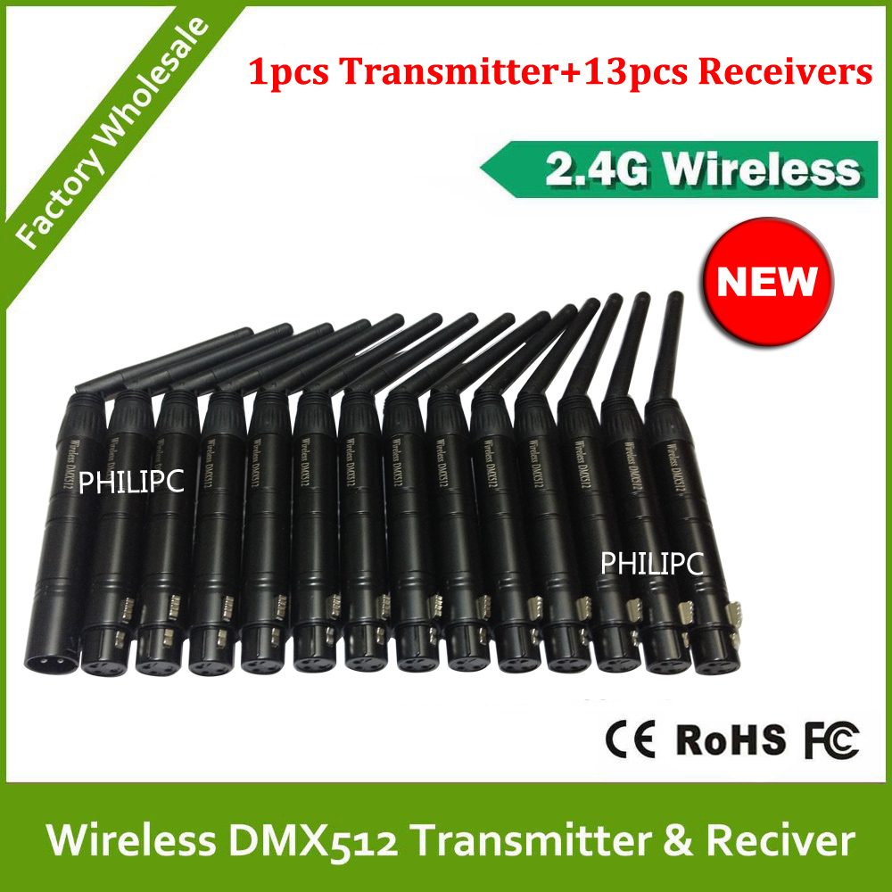 DHL Free Shipping DMX512 DMX Dfi DJ Wireless system Receiver or Transmitter 2.4G for LED stage light LED light new restaurant equipment wireless buzzer calling system 25pcs table bell with 4 waiter pager receiver