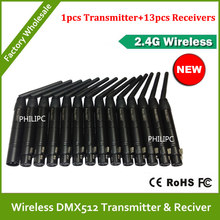 DHL Free Shipping DMX512 DMX Dfi DJ Wireless system Receiver or Transmitter 2.4G for LED stage light LED light(China)