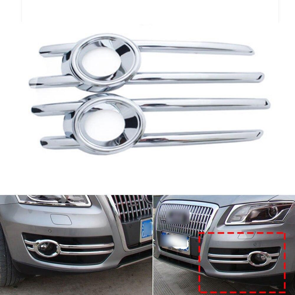 For Audi Q5 2009 2012 Car Front Fog Light Lamp Grill Frame