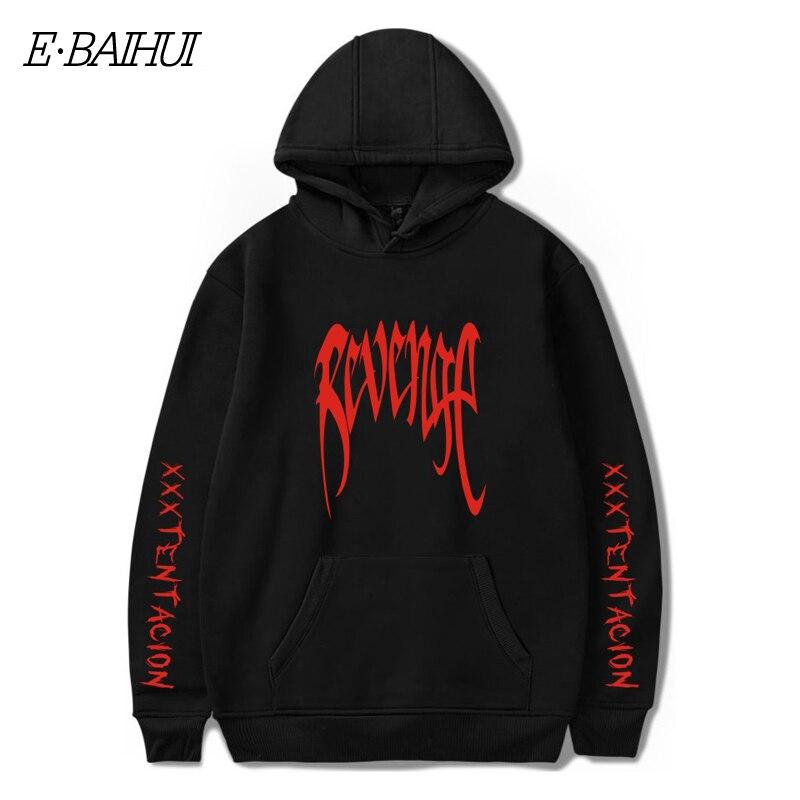 E-BAIHUI Men REVENGE 'KILL' HOODIE MANS Black - Tentacion Bad Vibes Forever Sweatshirts Men Hoodies Hoods Hoody XXXTentacion W01