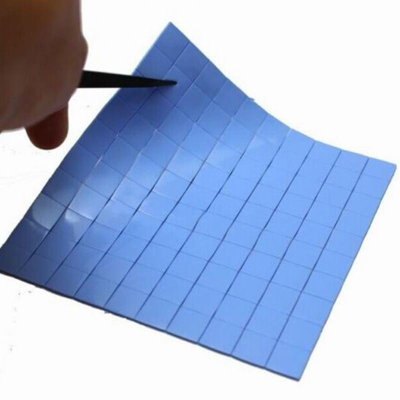 100PC Durable 10*10*1mm CPU Heatsink Cooling Thermal Conductive Silicone Pad New 10mm*10mm*1mm 100 Wholesale #0703