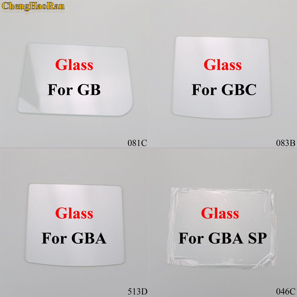 ChengHaoRan 4 models Clear Glass Material Screen Lens for Game boy Color GB/GBA/GBC/GBA SP Game Console replacement repair parts-in Replacement Parts & Accessories from Consumer Electronics