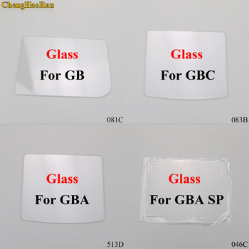 ChengHaoRan 4 models Clear Glass Material Screen Lens for Game boy Color GB/GBA/GBC/GBA SP Game Console replacement repair parts