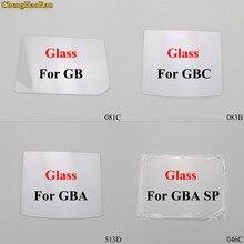 Chenghaoran 4 modelos de vidro claro material lente da tela para o jogo menino cor gb/gba/gbc/gba sp game console peças de reparo substituição