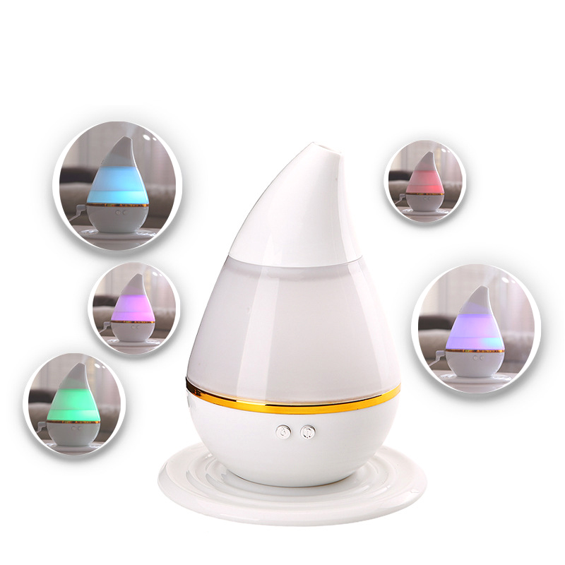 Mini Ultrasonic Home Office Humidifier Waterdrop LED Light Air Diffuser Purifier Atomizer USB Power Aroma Air Moist Moisture# 5v led lighting usb mini air humidifier 250ml bottle included air diffuser purifier atomizer for desktop car